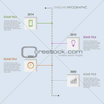 Time line info graphic elements template