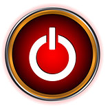 Power red circle logo
