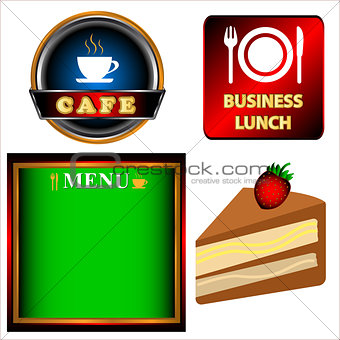 Cafe logo set
