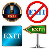 Exit logo set