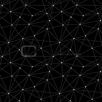Abstract seamless vector triangle background with dots