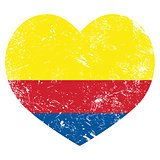 Columbia retro heart shaped flag