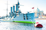 Famous landmark Petersburg-Cruiser Aurora