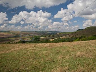 Beautiful cloudy day near the village Katselovo