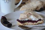 cornel  cake with meringue