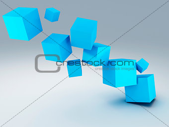 Abstract background cubes