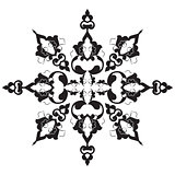 black oriental ottoman design twenty-nine