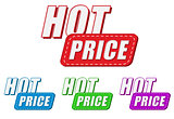 hot price, four colors labels