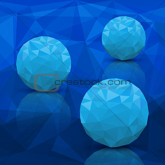 Abstract background in modern triangle style