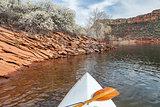springtime canoe paddling