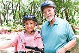 Fit Seniors Ride Bicycles