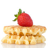 Waffles and strawberry
