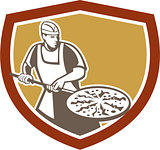 Pizza Maker Baking Bread Shield Retro