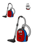 Smiling cartoon vacuum cleaner
