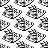 Japan food seamless pattern