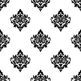 Black and white seamless arabesque pattern