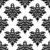 Floral seamless pattern with decorative elements