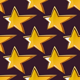 Golden shooting star seamless pattern