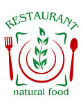 Natural food restaurant icon