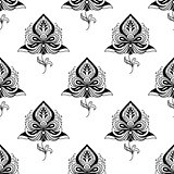Persian paisley seamless pattern