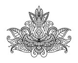 Persian or indian paisley floral element