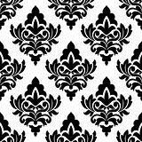 Bold damask style seamless pattern