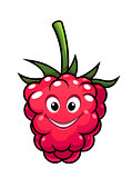 Happy cheeky cartoon raspberry