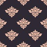 Vintage damask style seamless pattern