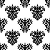 Seamless floral decorative pattern