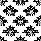 Damask seamless pattern with bold flowers