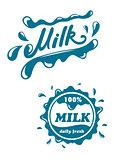 Fresh milk symbols