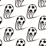 Seamless pattern of zooming soccer balls