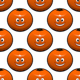 Seamless pattern of oranges fruits