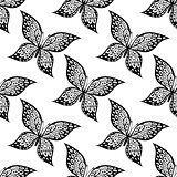 Seamless pattern of beautiful butterfly
