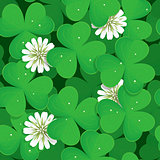 Seamless pattern with shamrock