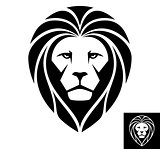 Lion Head Icon - Illustration