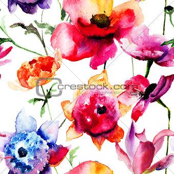 Beautiful Peony and Poppy flowers