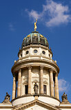 the French Cathedral dome detail, Gendarmenmarkt square