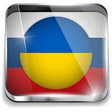 Ukraine and Russia conflict for Crimea Icon