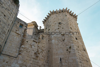 Beautiful tower of the old town of Split in Croatia