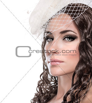 Stylish bride portrait