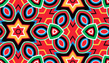 Pattern of geometric shapes, background.