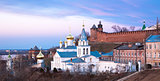 Panoramic spring view church and Kremlin Nizhny Novgorod