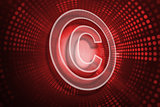 Composite image of copyright symbol