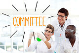 Committee against scientists working in laboratory