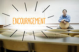 Encouragement against lecturer sitting in lecture hall
