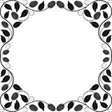 Vintage floral frame. Decorative pattern