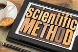 scientific method on digital tablet