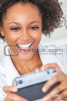 African American Girl Woman Taking Selfie Picture