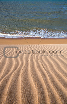 View of the Colombian coastline in La Guajira